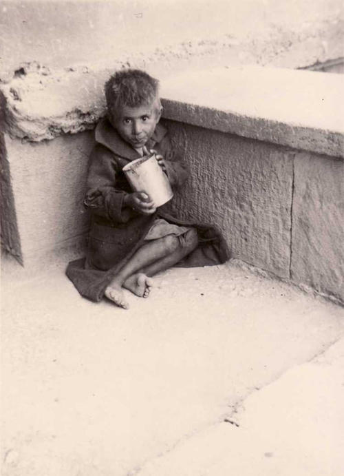 Starving child in Athens, 1942. Private collection George Chandrinos